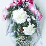 11月「おもてなしハンドメイド」ワーク付お茶会・・・<クリスマススワッグ>