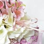 初心者の方も可愛く作れる、春にぴったりの桜アレンジレッスン